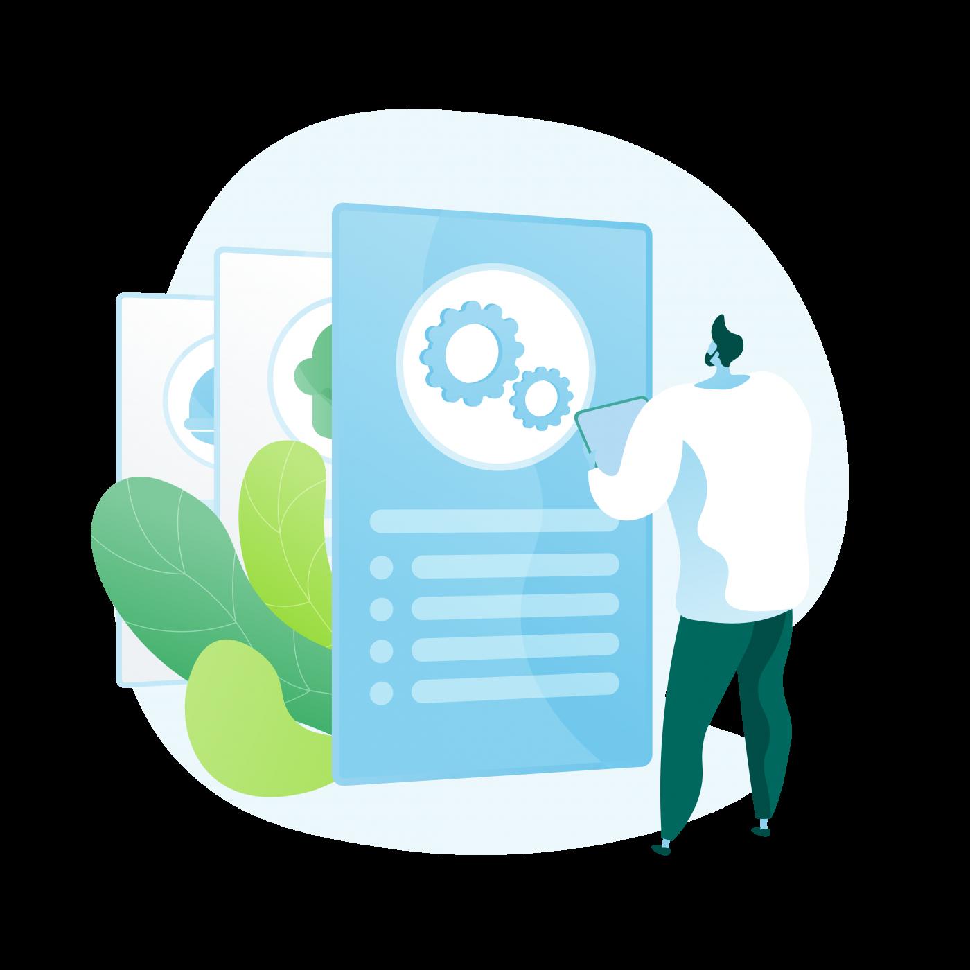 Registrering og administrasjon illustration
